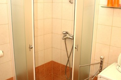 Bathrooms with shower.